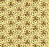 无缝的样式开花万寿菊,沙子 库存例证