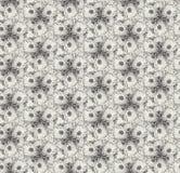 无缝的样式开花万寿菊,灰色 向量例证