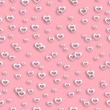 无缝的样式心脏情人节 库存照片