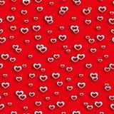 无缝的样式心脏情人节 免版税图库摄影