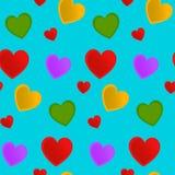无缝的样式心脏用薄菏 库存照片