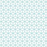 无缝的样式摘要求蓝色和白色的立方 库存例证