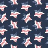 无缝的样式旗子美国 美国背景 图库摄影