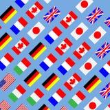 无缝的样式旗子g7 库存照片