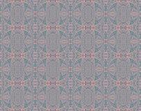 无缝的样式桃红色灰色绿松石 免版税库存图片