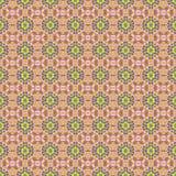 无缝的样式桃红色黄色 免版税图库摄影