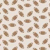 无缝的样式橄榄球 免版税库存照片