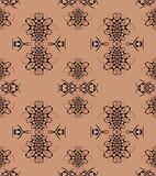 无缝的样式浅褐色的黑色 免版税库存照片