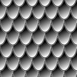 无缝的样式灰色锁子甲龙标度 设计的简单的背景 免版税库存图片