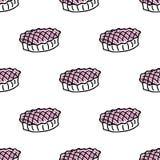 无缝的样式用乱画饼 免版税图库摄影
