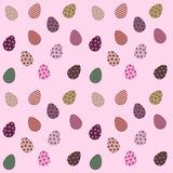 无缝的样式用五颜六色的复活节彩蛋 库存图片