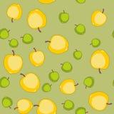 无缝的样式用动画片苹果 重复背景的果子 不尽的印刷品纹理 织品设计 墙纸580 皇族释放例证