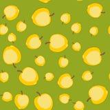 无缝的样式用动画片苹果 重复背景的果子 不尽的印刷品纹理 墙纸583 库存例证