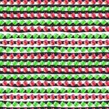 无缝的样式用在条纹的水彩苹果 库存图片
