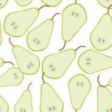 无缝的样式用在白色背景的梨 免版税库存照片