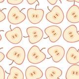 无缝的样式用在白色背景的苹果 免版税库存照片