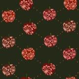 无缝的样式用在绿色的红色苹果 皇族释放例证