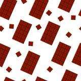 无缝的样式用巧克力 向量 纺织品设计 织品印刷品 免版税库存照片