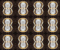 无缝的样式用拿铁艺术咖啡 图库摄影