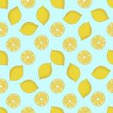 无缝的样式用柠檬 也corel凹道例证向量 库存照片