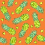 无缝的样式用菠萝 库存照片
