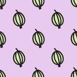 无缝的样式用鹅莓 向量 免版税库存图片