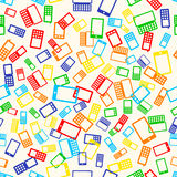 无缝的样式电话 库存照片