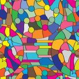 绘无缝的样式的五颜六色的圈子 库存例证