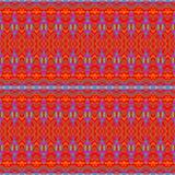 无缝的样式红色黄色 免版税库存图片