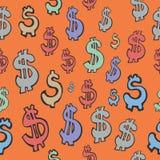 无缝的样式美元的符号 免版税库存图片