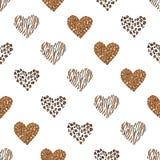 无缝的样式背景心脏 向量 皇族释放例证