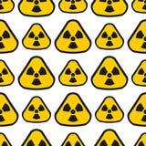 无缝的样式背景核能标志传染媒介工业电污染驻地烟囱烟反应器标志 向量例证
