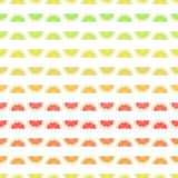 无缝的样式背景葡萄柚,柠檬,石灰,橙色 图库摄影