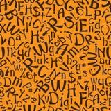 无缝的样式英语字母表 免版税库存照片
