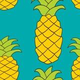 无缝的样式菠萝 库存例证