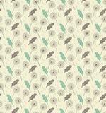 无缝的样式蒲公英生叶和种子-导航eps8 免版税库存照片