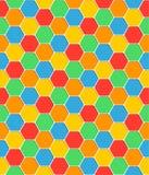 无缝的样式蜂窝纹理六角形形状 库存照片