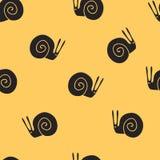 无缝的样式蜗牛 免版税库存照片