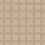 无缝的样式褐色curlicues 免版税图库摄影