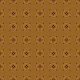 无缝的样式金子紫色 库存例证