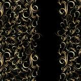 无缝的样式金子 图库摄影
