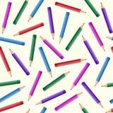 无缝的样式铅笔 库存照片