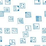 无缝的样式长方形蓝色 库存照片