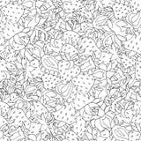 无缝的样式集合红色草莓 免版税库存图片