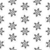 无缝的样式雪花抽象隔离,设计的冬天元素 库存图片