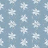 无缝的样式雪花抽象隔离,设计的冬天元素 免版税库存图片