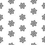 无缝的样式雪花抽象隔离,设计的冬天元素 免版税库存照片