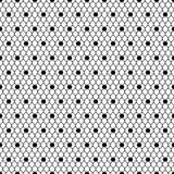无缝的样式黑色加点了面纱,黑滤网 免版税库存图片