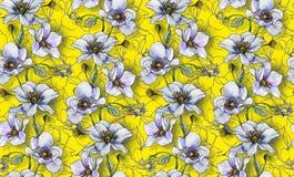 无缝的样式,在轻的背景的轻的花,墙纸 免版税库存照片