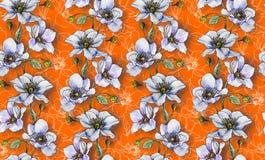 无缝的样式,在轻的背景的轻的花,墙纸 库存图片